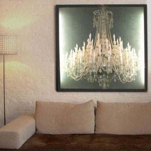 Duffy London - glo-canvas grand chandelier - Tableau Lumineux