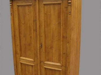Lawrens - armoire ancienne en pin massif - Armoire À Portes Battantes