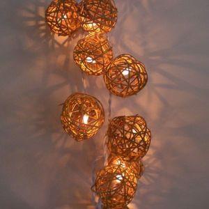 atoutdeco.com - guirlande lumineuse en bois tressé - Guirlande Lumineuse