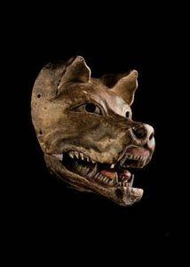 Cédric Le Dauphin - masque de kyogen - Masque