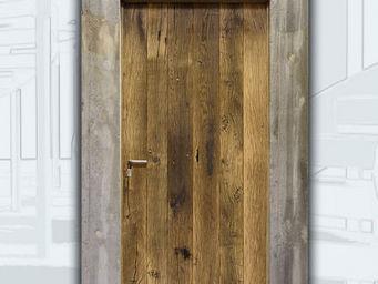 Portes Anciennes - portes d'entrees contemporaines - Porte D'entr�e Pleine