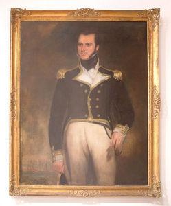Abj Cheminees Anciennes - tableau : officier de marine - Portrait