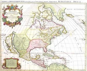 ARADER GALLERIES - carte de l'amerique septentrionale 1696 - Carte G�ographique