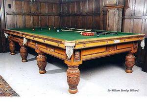 Sir William Bentley Billiards - the green man table - Billard Am�ricain