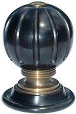 John Armistead Restorations - the tudor full fluted doorknob with grooved mount - Bouton De Porte