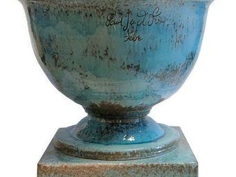 PLANTERS-CONTACT-PROVENCE - coupe c lassique moyenne turquoise ø 78cm, h56cm - Vasque De Jardin