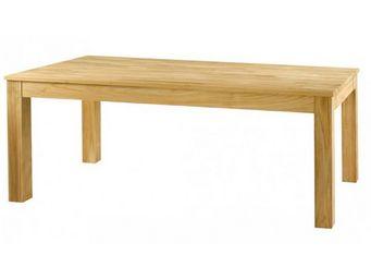 MEUBLES ZAGO - table teck sabl� cosmos 160 cm avec allonge - Table De Repas Rectangulaire