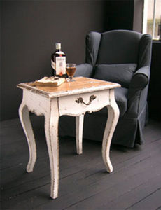 BLEU PROVENCE - vintage white - Table Basse Forme Originale
