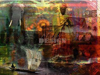 Magel'design - couleur du mali 120x90 cm , 3d effet relief - Tableau Contemporain