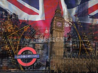 Magel'design - big ben london 120x90 cm , 3d effet relief - Tableau Contemporain
