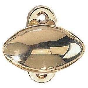 FERRURES ET PATINES - poignee de fenetre - bouton olive sur platine - en - Bouton De Porte