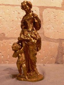 Art & Antiques - bronze doré à l'or fin signé i.colin - Sculpture