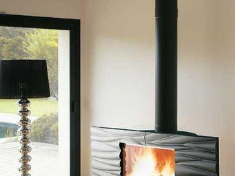 INVICTA - po�le chemin�e � bois gaya finition anthracite 12k - Po�le � Bois