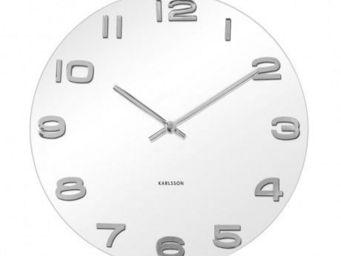 Karlsson Clocks - karlsson - horloge ronde vintage - karlsson - blan - Horloge Murale