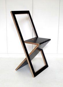 Sodezign - chaise pliante design en bois - noir - Chaise