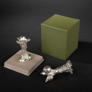 Expertissim - christofle. paire de vases soliflores en métal arg - Soliflore