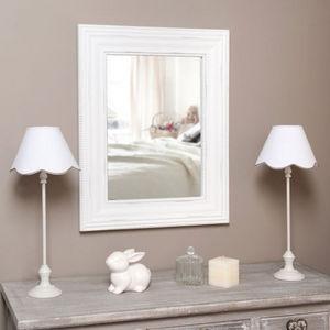 Maisons du monde - miroir perle blanc - Miroir