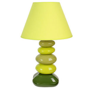 Maisons du monde - lampe galet chlorophylle - Lampe À Poser