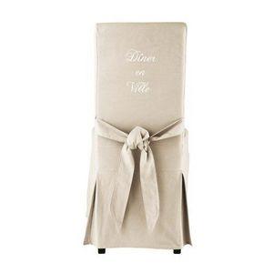 MAISONS DU MONDE - housse de chaise à diner margaux - Housse De Chaise