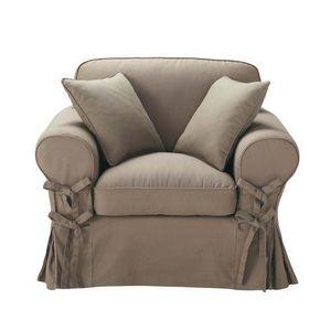 Maisons du monde - fauteuil taupe butterfly - Fauteuil