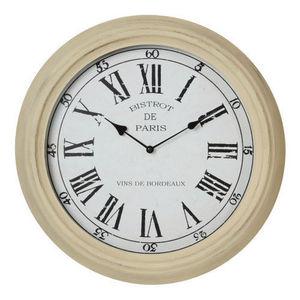 Maisons du monde - horloge bistrot beige - Horloge Murale