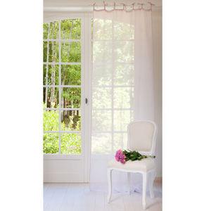 Maisons du monde - rideau lin lilas - Rideaux À Lacettes