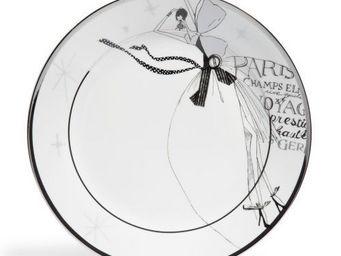 Maisons du monde - assiette plate haute couture blanc - Assiette Plate