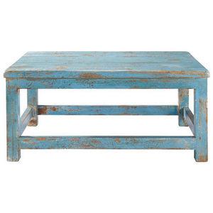 Maisons du monde - table basse bleue avignon - Table Basse Rectangulaire