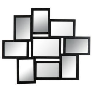 MAISONS DU MONDE - miroir 9 vues relief noir - Miroir