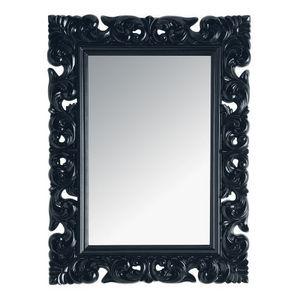 Maisons du monde - miroir rivoli noir 90x120 - Miroir