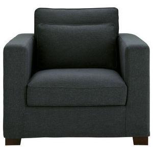 Maisons du monde - fauteuil tissu monet anthracite milano - Fauteuil