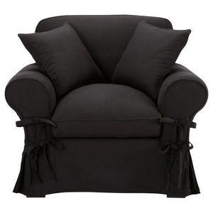 Maisons du monde - fauteuil coton noir butterfly - Fauteuil