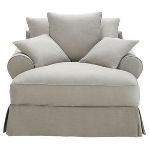 Maisons du monde - méridienne coton gris clair bastide - Fauteuil