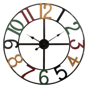 Maisons du monde - horloge numbers multicolore - Horloge De Cuisine