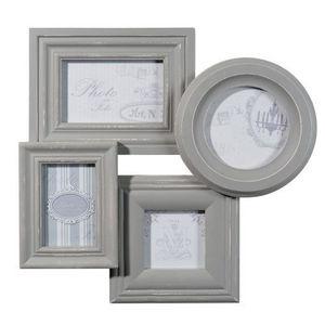 Maisons du monde - cadre 4 vues anaelle gris - Cadre Photo