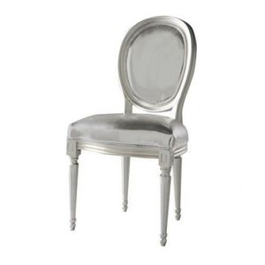 Maisons du monde - chaise argent louis - Chaise Médaillon