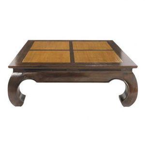 MAISONS DU MONDE - table basse carrée bamboo - Table Basse Carrée