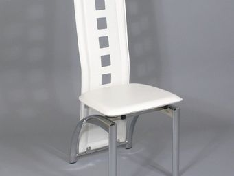 CLEAR SEAT - chaises modernes blanches simili cuir bilbao lot d - Chaise