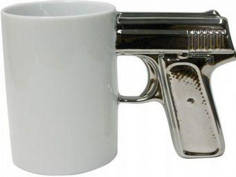 Manta Design - mug design top gun argent - Mug