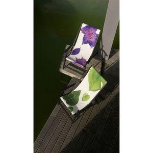 TROIS MAISON - toile de transat - feuille rose - Chaise