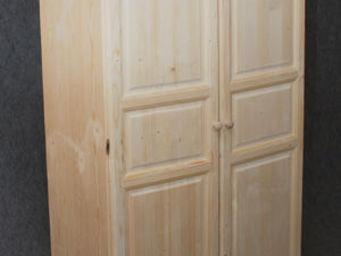 BARCLER - armoire 2 portes en bois brut 100x56x180cm - Armoire À Portes Battantes