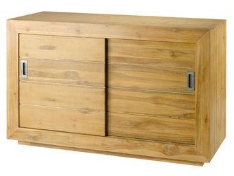 ZAGO - meuble avec portes coulissantes en teck - Meuble De Salle De Bains