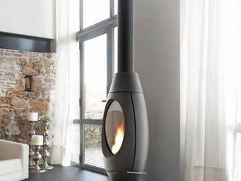 INVICTA - poêle cheminée10kw à bois finition anthracite ove - Poêle