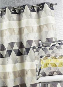 HOMEMAISON.COM - rideau ameublement en jacquard aux motifs géométri - Rideaux À Oeillets