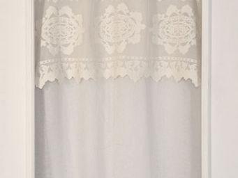 Coquecigrues - rideau � cantonni�re stuart ivoire - Rideaux Pr�ts � Poser