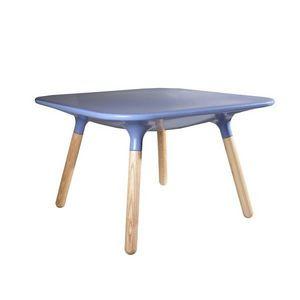 DECO PRIVE - table basse bleue marguerite - Table Basse Rectangulaire