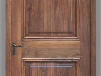 Portes Anciennes - 2 panneaux - Porte D'entr�e Pleine