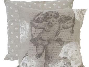 Mathilde M - coussin carré romance cupidon - Coussin Carré