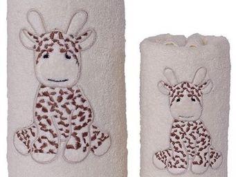 SIRETEX - SENSEI - carré de bain 100x100cm éponge brodée lili la gira - Serviette De Toilette Enfant