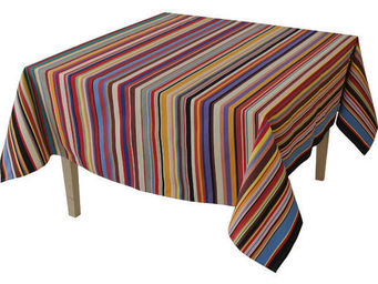 Les Toiles Du Soleil - nappe carrée tom multicolore - Nappe Carrée